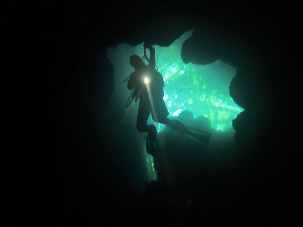 Denea Solomons cave diving 2