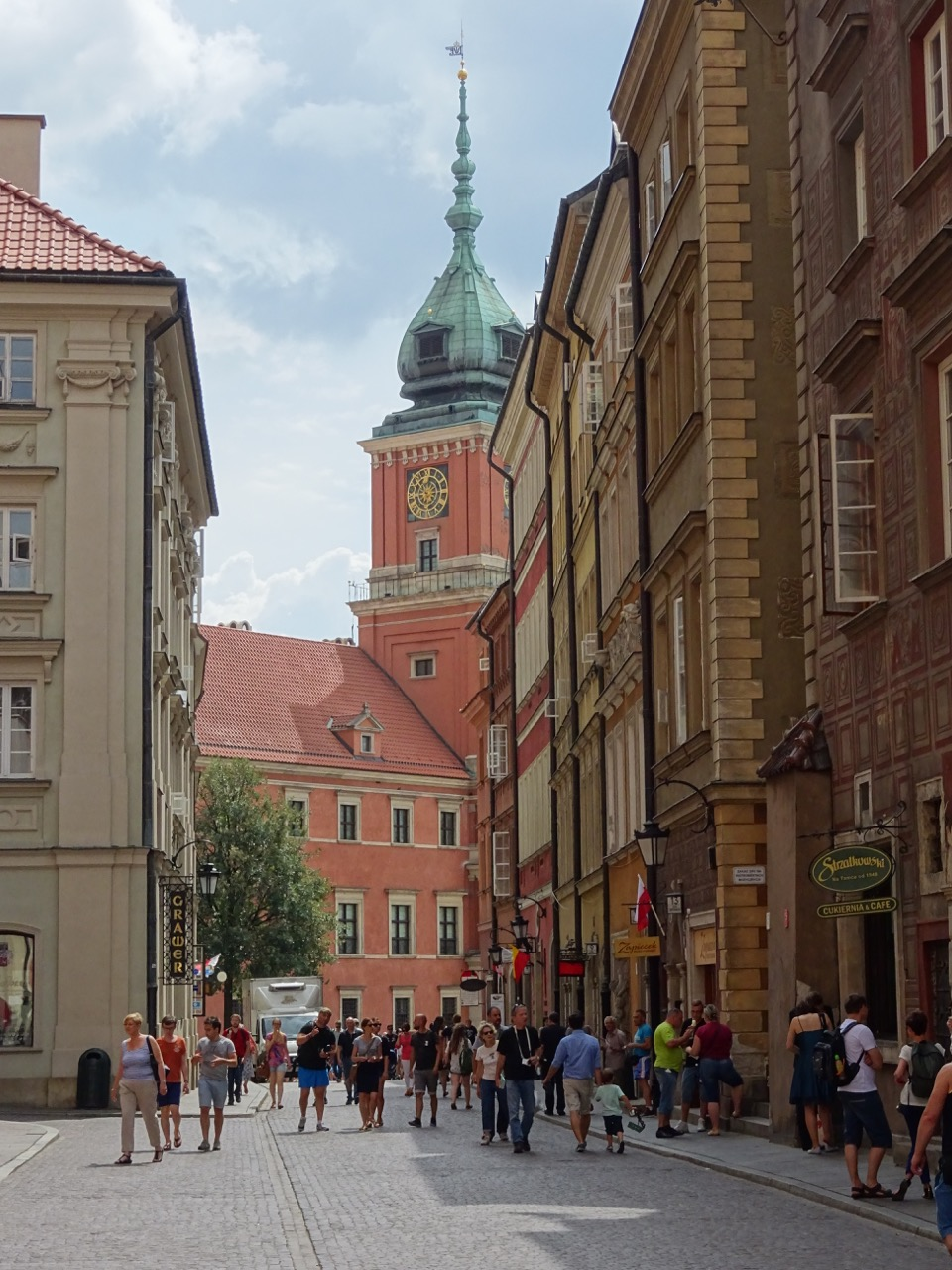 streetscape in old town warsaw