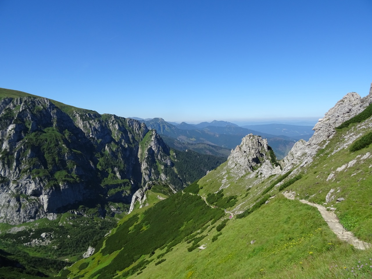 One of the incredible views on the hike up Mt Giewont, above Zakopane
