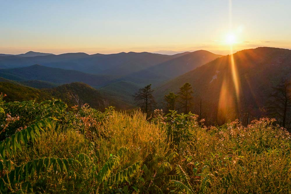 Sunset at Brown Mountain Overlook, Shenandoah National Park