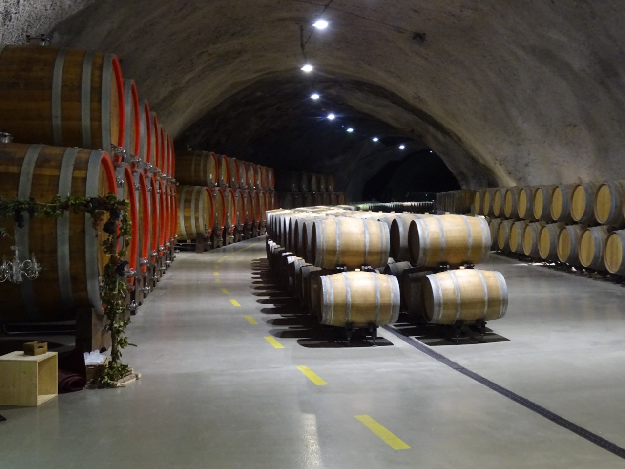 Inside the Plantaze cellar, which used to be an air force hanger